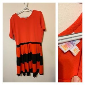 3Xl Amelia Dress Orange and Black
